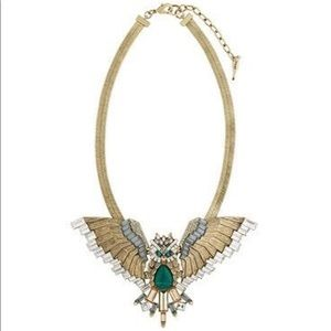 Unicorn Owl in Flight dollar necklace